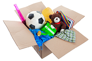 Goodwill box of donations