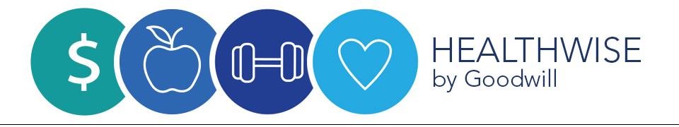 Healthwise Wellness Goal: Update