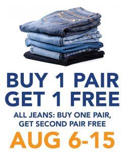 Buy 1 Get 1 Free Jeans Sale